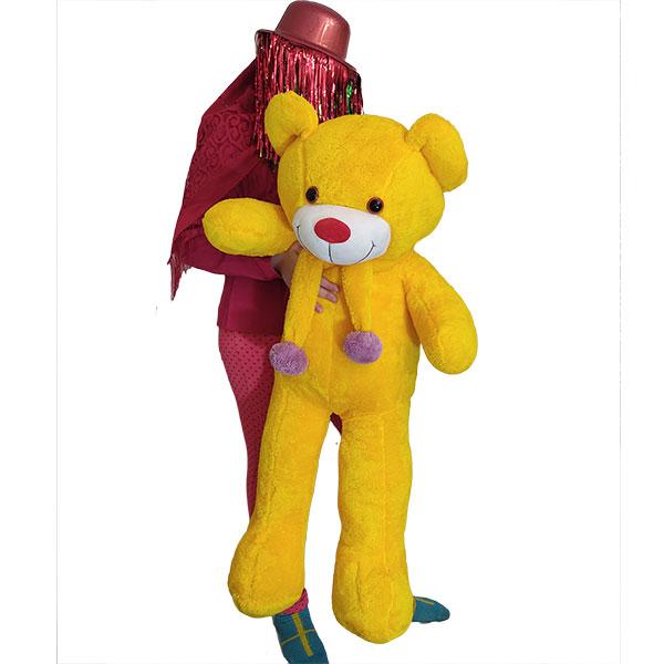 فروش خرس عروسکی زرد 1 متری