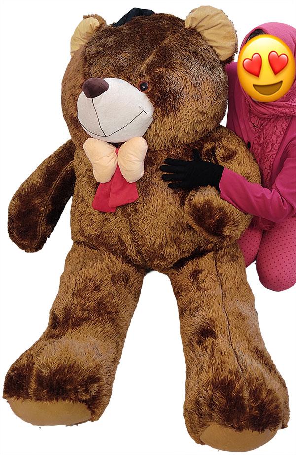 عروسک خرس بزرگ توپول قهوه ای پولیشی