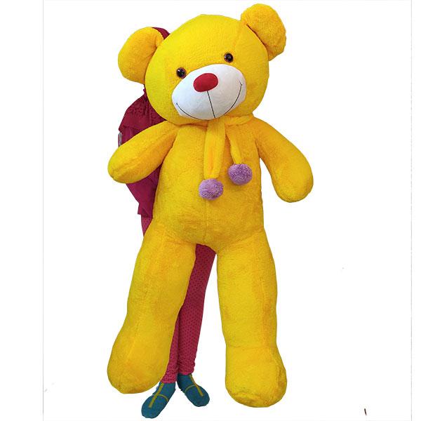 عروسک خرس بزرگ 130 سانتی زرد پولیشی