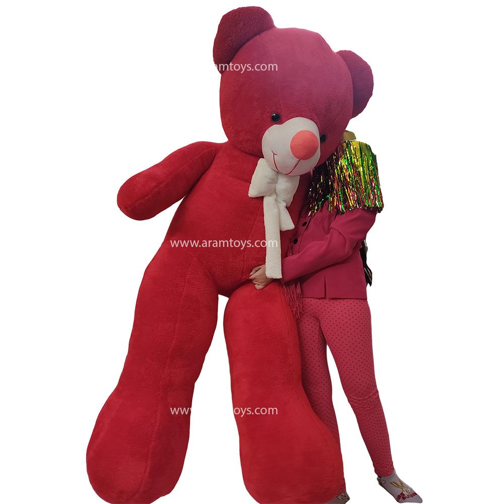 تصویر عروسک خرس بزرگ دو متری