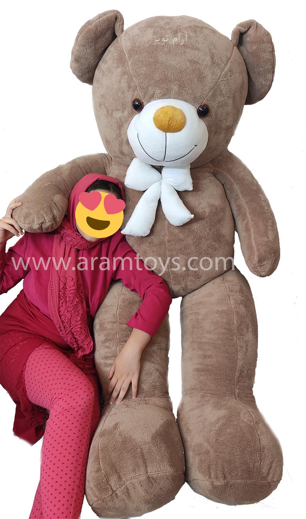 تصویر خرس بزرگ عروسکی نسکافه ای