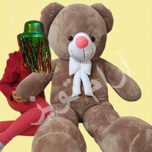 عروسک خرس بزرگ 170 سانتی نسکافه ای