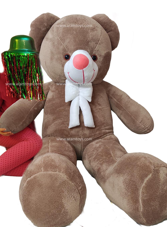 تصویر عروسک خرس بزرگ نسکافه ای